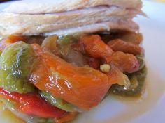 Ensalada de pimientos con ventresca de atún / Pepper salad with tuna