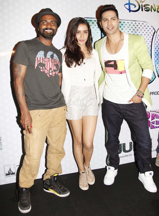 Remo D'Souza, Shraddha Kapoor and Varun Dhawan at the trailer launch of 'ABCD 2'.