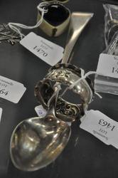 SILVER - Tablespoon  John Lambe 1811 and Napkin Ring Birmingham 1904