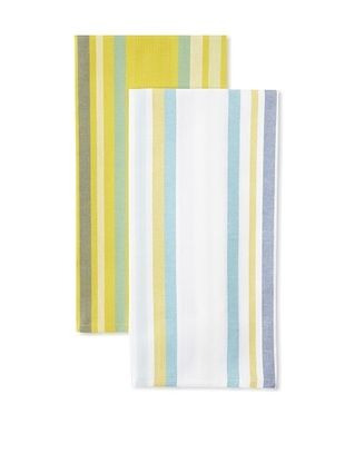 56% OFF Anne De Solene Set of 2 Kitchen Towels, Averell, Blanc/Jaune, 23