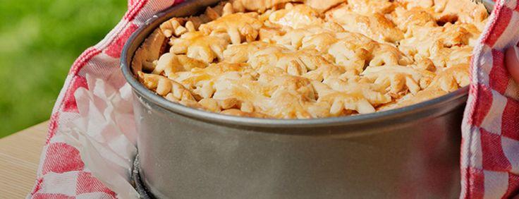 Appel, peer en karamel fudge. Echt een taart voor liefhebbers van zoet!
