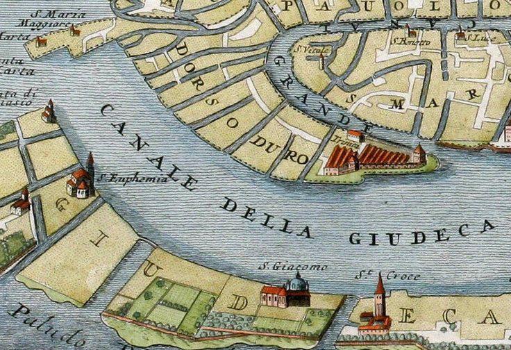 Vintage Old Map of Venice Venetia Venezia , Italy 1720 - product image