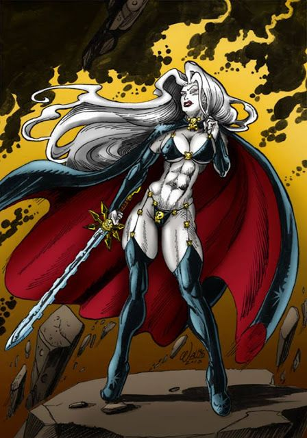Lady Death #ladydeath #comics fantasyart #art #pinup #hell
