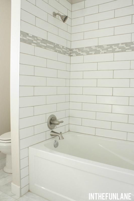 Beveled Subway Tile Shower Surround Thousands Pictures