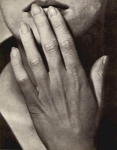 La main sur les levres, 1929 by Man Ray