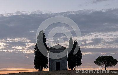 Cappella di Vitaleta - Landscape of Val D Orcia - sunset - tramonto