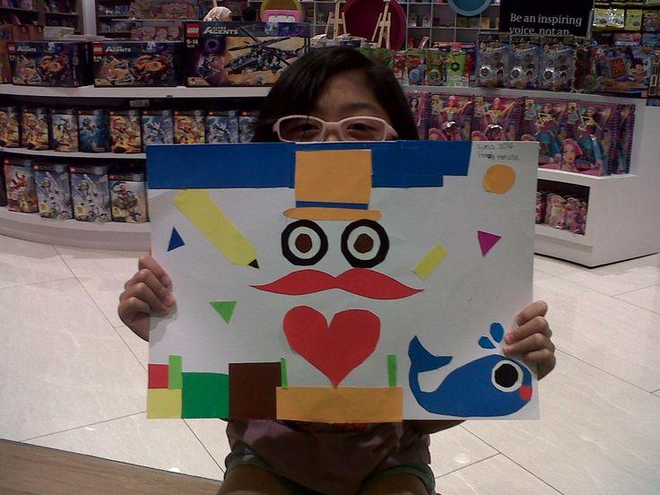 Henri Mattise - Painting With Scissors. Maeluna Quinteva @ Gramedia Kids Emerald Bintaro