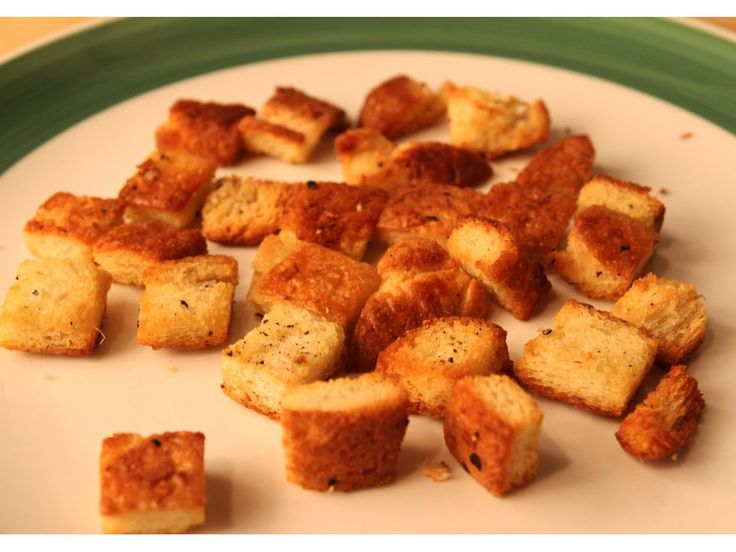 ... How to make croutons on Pinterest | Bread oil, Homemade and Toast