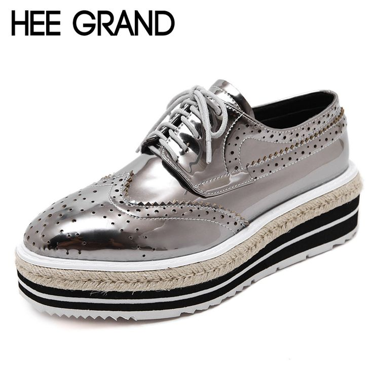 =>quality productHEE GRAND Platform Brogue Shoes Woman British Style Oxfords 2016 New Creepers Lace-Up Flats Casual Silver Women Shoes XWD4740HEE GRAND Platform Brogue Shoes Woman British Style Oxfords 2016 New Creepers Lace-Up Flats Casual Silver Women Shoes XWD4740Smart Deals for...Cleck Hot Deals >>> http://id206193785.cloudns.ditchyourip.com/32737286443.html images