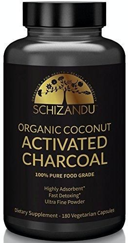Activated Coconut Charcoal Capsules Organic Food Grade Detox Non GMO Veggie Capsules For DetoxificationTeeth Whitening Digestive SystemTo Prevent HangoverVegan eBook Guide