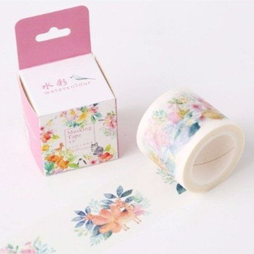 1 big masking tape - Cute animals paradise -