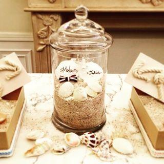 TIE wedding続き。ゲストからの砂、親族からのサイン付き貝殻に、蝶ネクタイとべールをつけた新郎新婦貝殻。結婚証明書の完成!  #アーヴェリール迎賓館 #名古屋 #八事 #結婚式 #海 #テーマ #コンセプト #結婚証明書 #砂合わせの儀 #貝殻 #砂 #arverirgeihinkan #nagoya #wedding #sea #beach #ocean #shell #theme #concept #signiture #takeandgiveneeds #TG #プレ花嫁