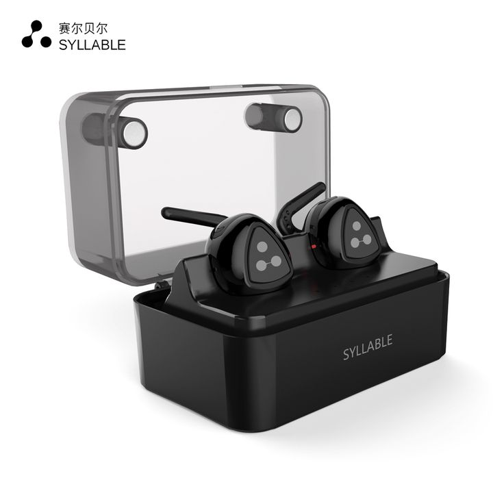 Syllable d900mini bluetooth 4.1 earphone pengurangan kebisingan bluetooth headset untuk ponsel olahraga bass earphone nirkabel