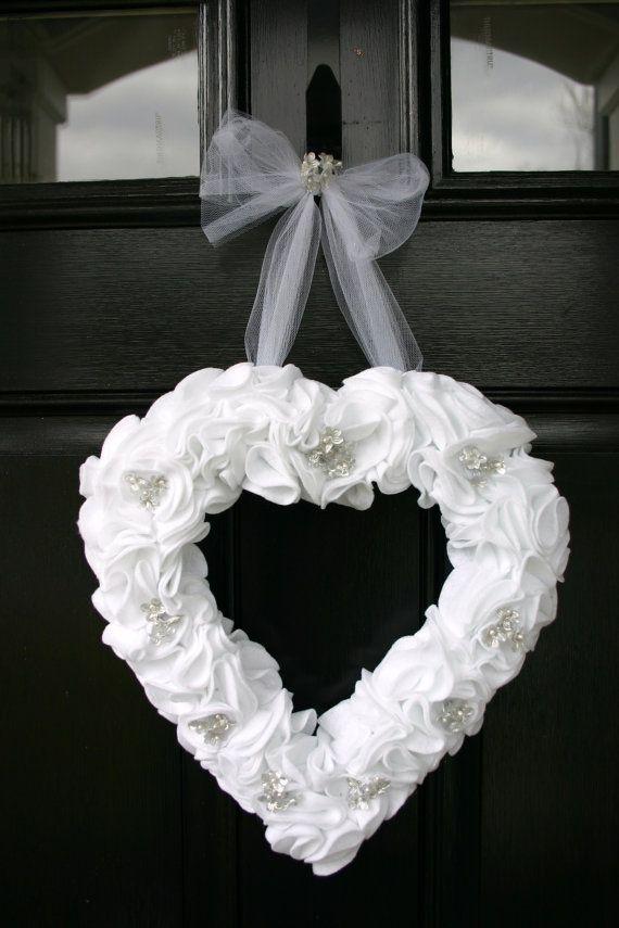 Wedding bridal shower or anniversary heart by DelightfulDayDesigns