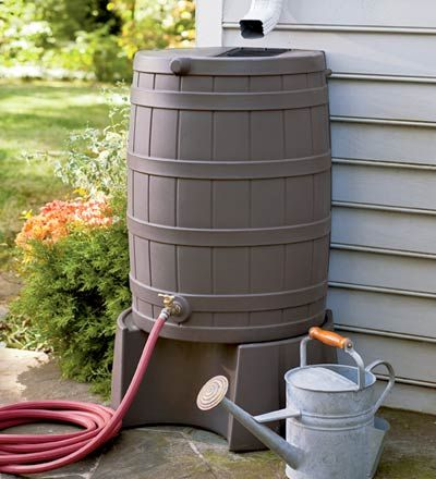 64 best water conservation images on pinterest water for Rain barrel stand ideas