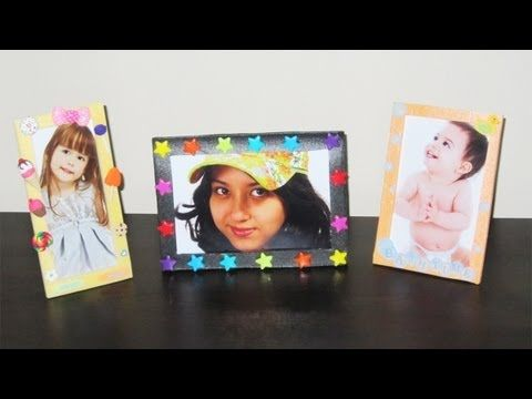 How to make cute picture frames with packing trays