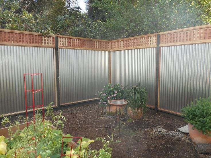Tin Fence Ideas For The House In 2019