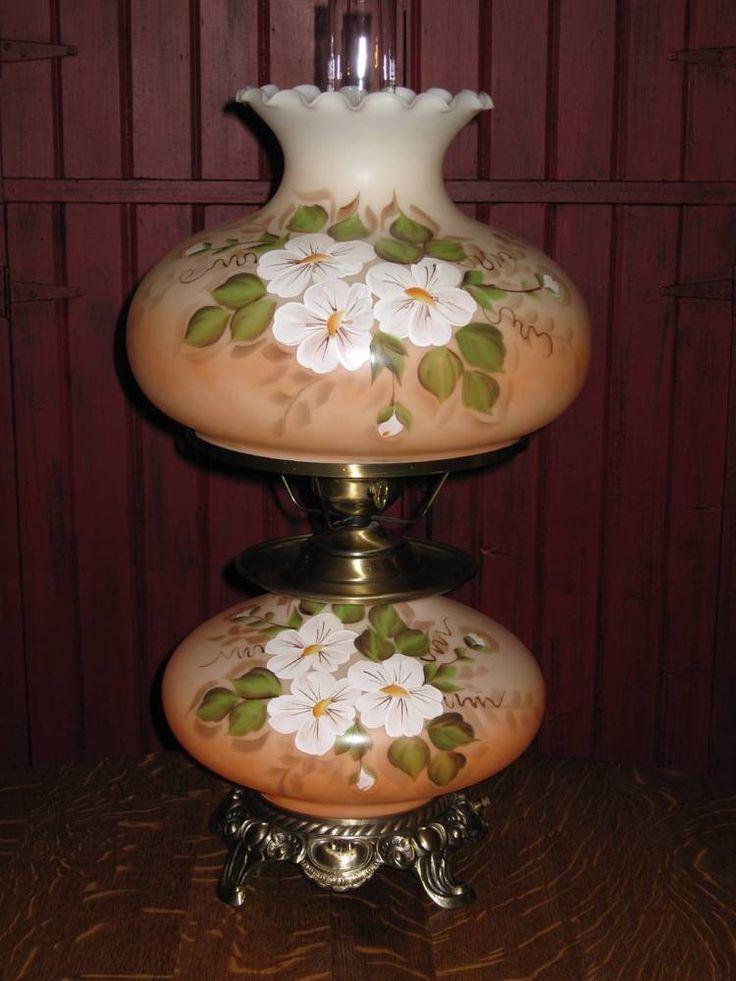 LG Vintage Hand Painted Magnolia Gone With the Wind Hurricane Peach Table Lamp | Objetos de colección, Lámparas, luces, Lámparas: eléctricas | eBay!