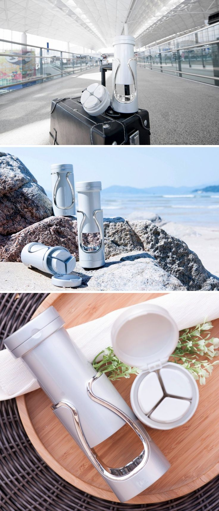 Tic Smart Travel Bottle is designed to hold all your cosmetic liquids in a spill-proof container that even doubles as a dispenser.
