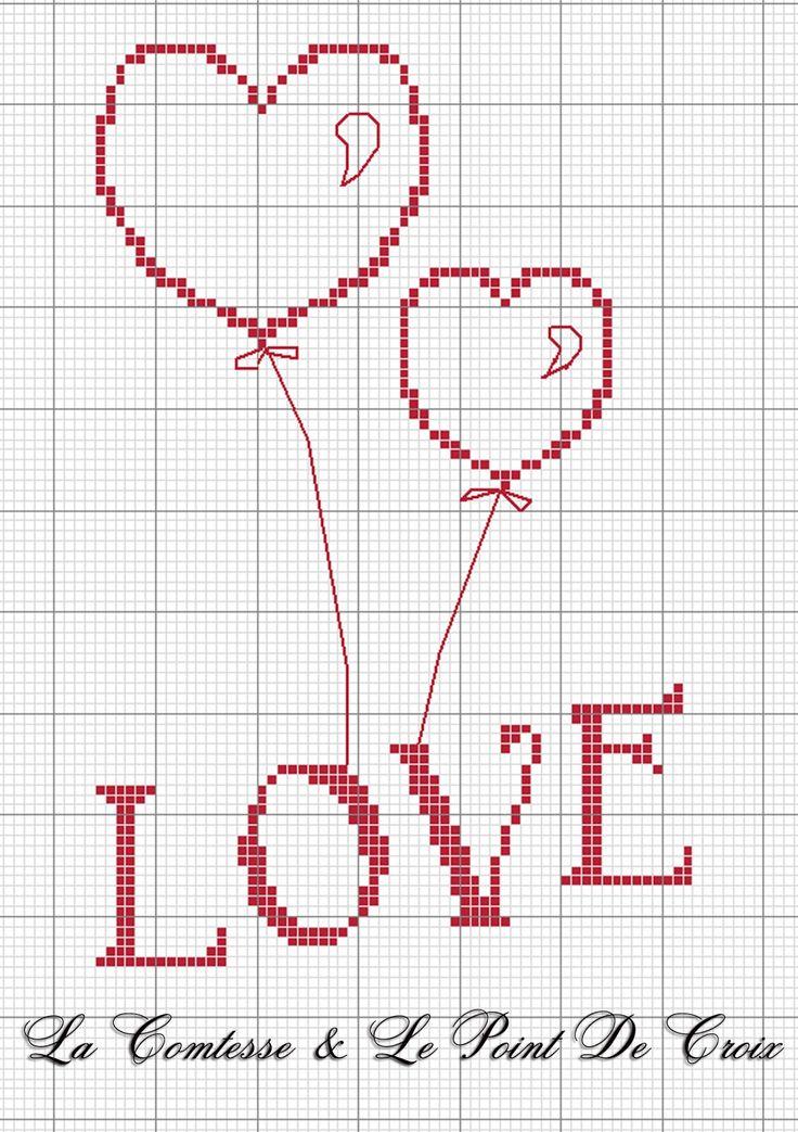 Love & Balloons by La comtesse @ La Comtesse & Le Point de Croix
