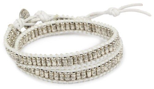"M. Cohen Handmade Designs Silver Stamped Beads on White Wax Linen Double Wrap Bracelet M.Cohen Handmade Designs. $262.00. 12"" Length can be extended 3"". All measurements are approximate as the items are hand made and therefore may vary slightly. Adjustable length with rare coin toggle closure. Made in USA. Remove before showering to maintain best condition"