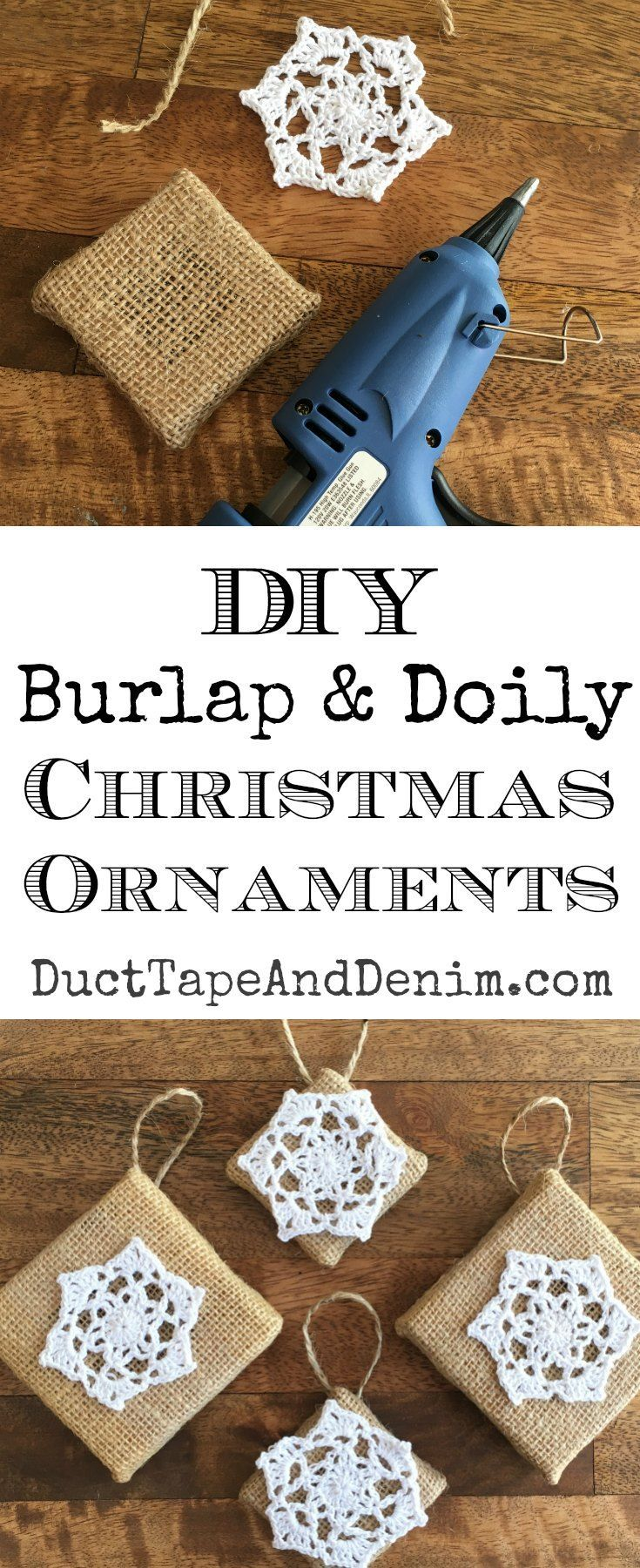 244 best christmas ornaments images on pinterest christmas crafts diy burlap and doily christmas ornaments solutioingenieria Gallery