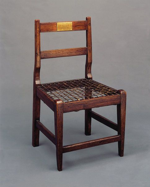 An Interesting South African Dutch Cape Chair with a brass plaque