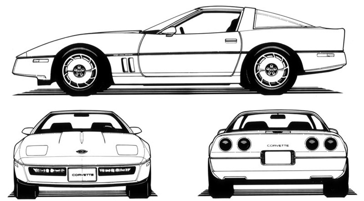 1984 Corvette Drawings Corvette Pinterest Models