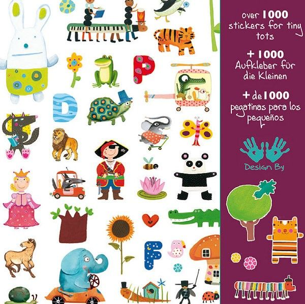 Djeco - 1000 Stickers for Little Ones  #entropywishlist #pintowin  Stickers stickers we love Stickers!!