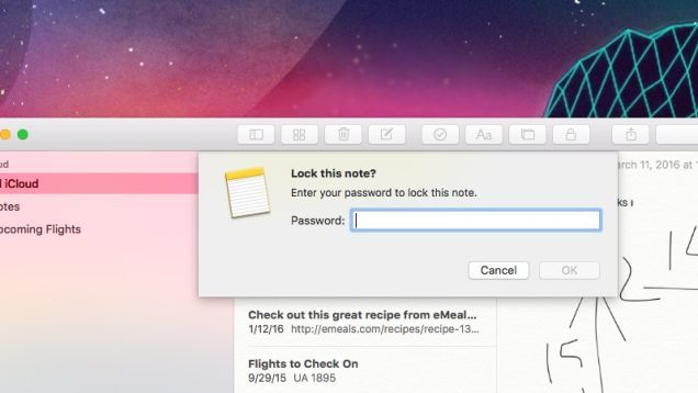 How to Password Protect Apple Notes