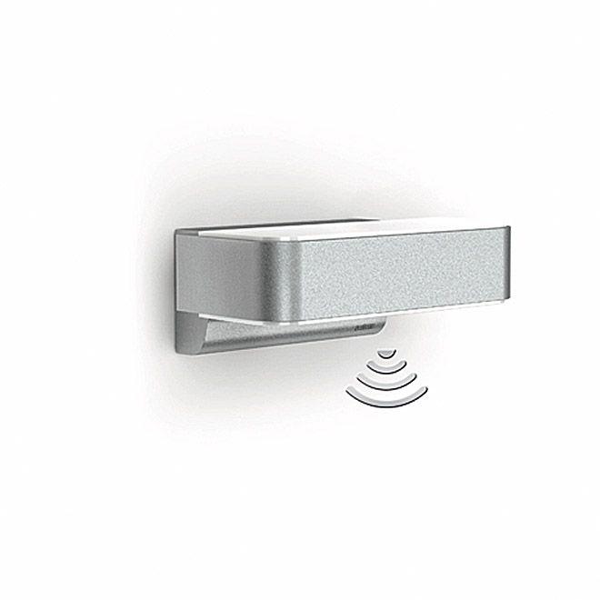 Steinel LED Außenleuchte L 810 iHF Up-/Downlight (Leistung: 12 W, Farbe Gehäuse: Edelstahl, IP44)