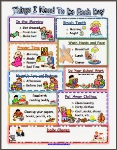 Responsibility Chart for Catholic Kids {Chore Chart} - Catholic Inspired - can be used for Lent too