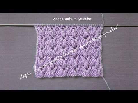minik laleler örgü modeli bayan yelek örnegi videolu yapılışı - YouTube