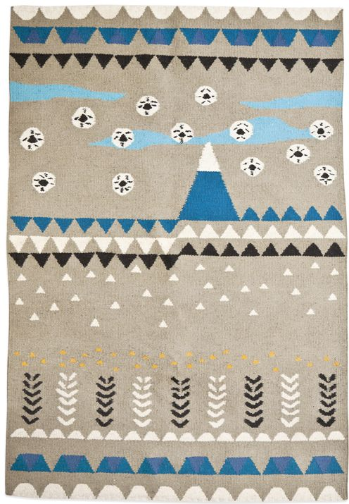 rug: flaky fields & mountain drops
