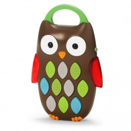 Whoo's that on the phone?Babies will love exploring sounds and listening to a melody. Look, listen, and learn as the textured buttons play 10 different sounds. Little ones will love discovering which buttons hoot, chime, and play a melody.