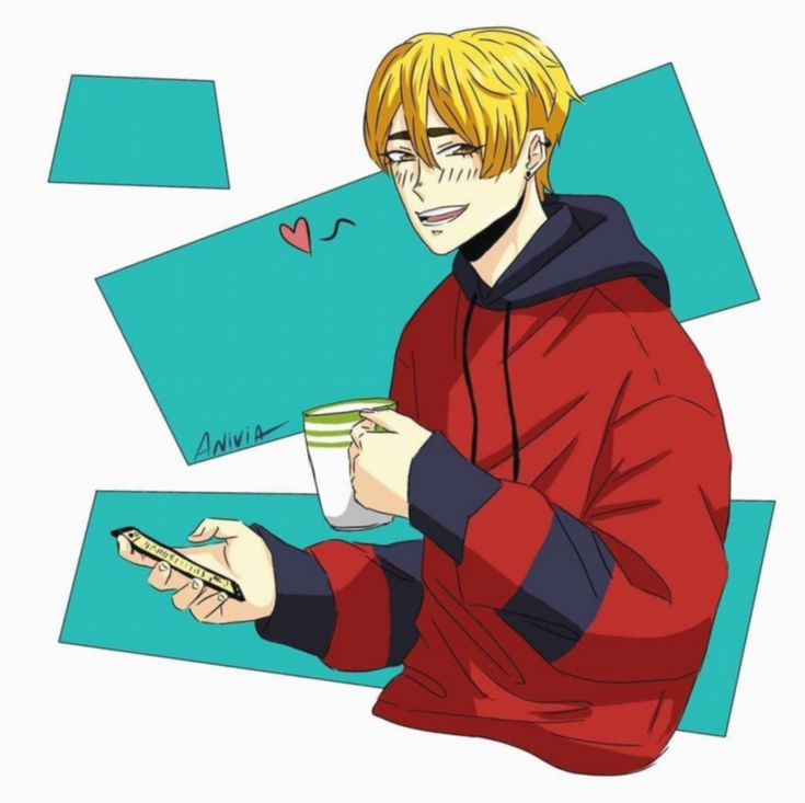 anime hoodie boy cute