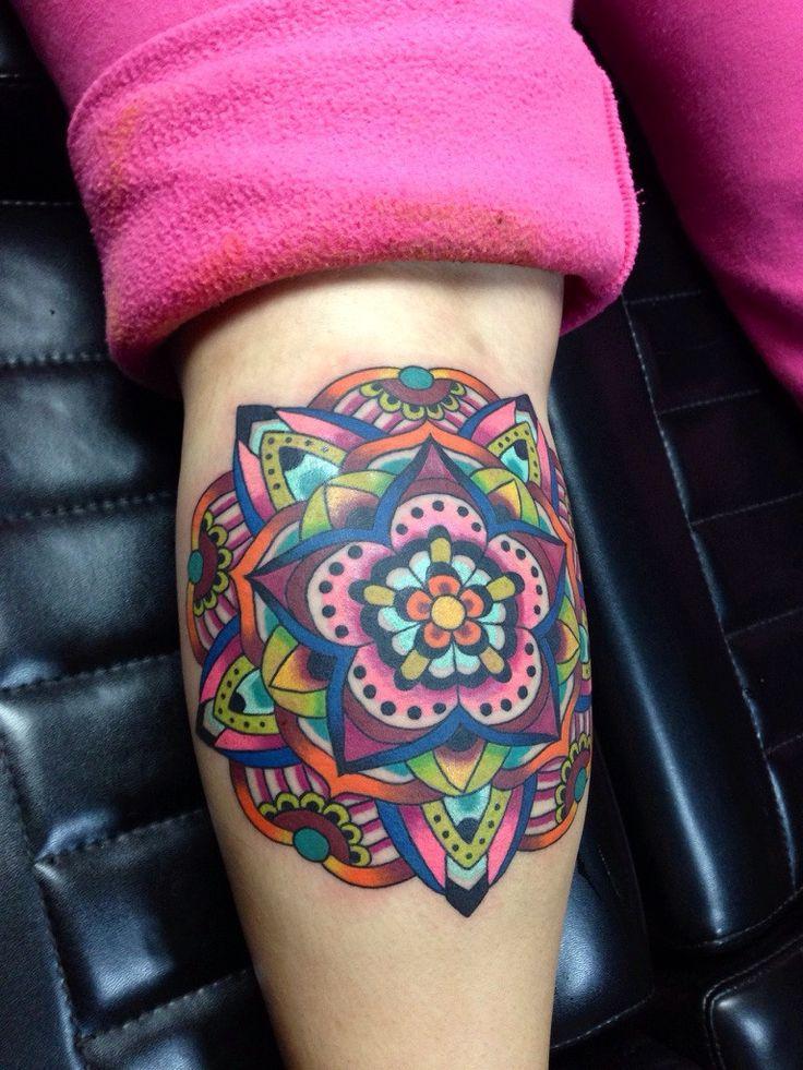 mandala tattoo - colorful