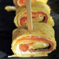 Bouchées Apéritives saumon ou truite, fromage frais & roquette
