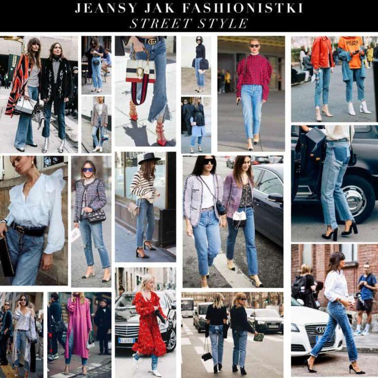 Stylizacje streetstyle - Jak nosić jeansy jak fashionistki?
