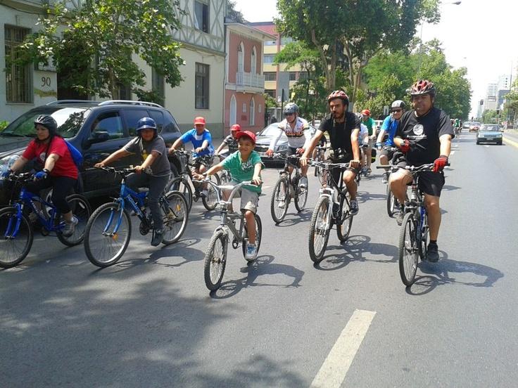 La cicletada con los niños de La Legua