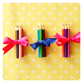 This Simple Idea Of Putting A Ribbon Around Colouring Pencils Is Cute Way To Make An Easy And Inexpensive Party Bag Filler