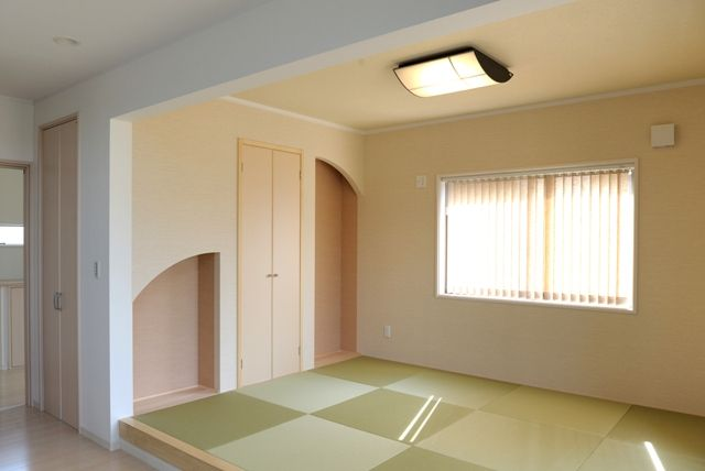 リビング続きのかわいらしい和室。#和室 #収納#畳