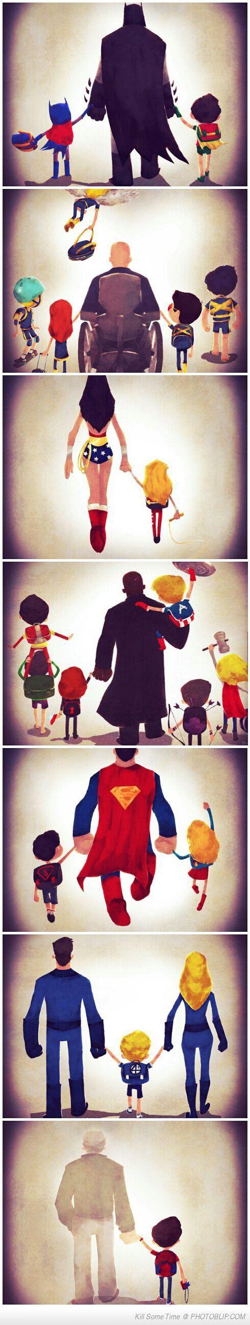 Super Hero Family Time... Y sí, el último me hizo llorar en la oficina >_