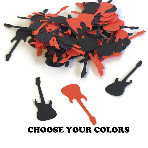 Rockstar guitar confetti. Made in 3-5 Business Days. by PartyParts