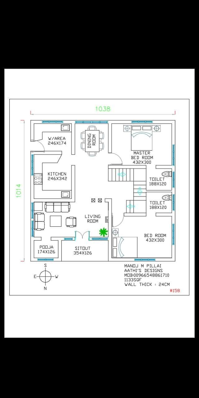 Pin By Beeya On Home Plans 2bhk House Plan Indian House Plans Beautiful House Plans