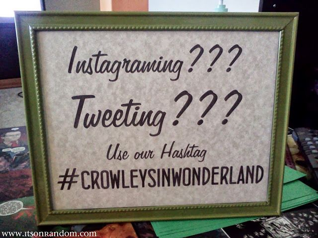 A sample sign for a hashtag from a wedding