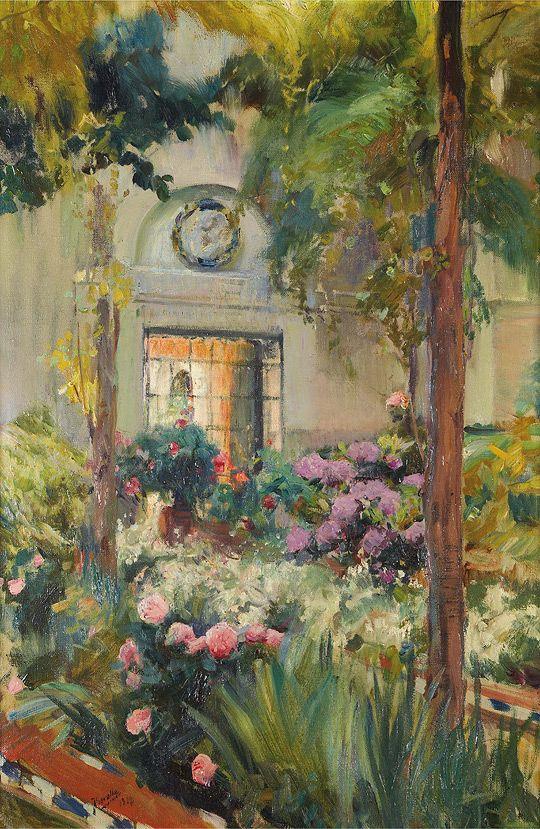 El jardín de la Casa Sorolla. 1917.