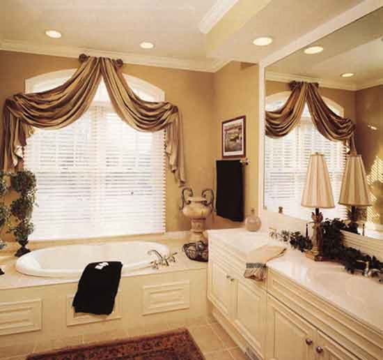 410 best images about swags on pinterest bay window - Swag valances for bathroom windows ...