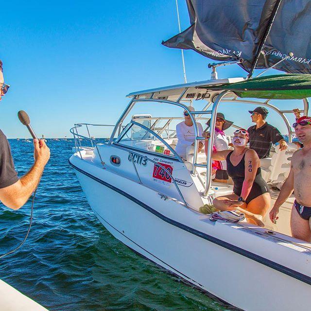 Team Karma being interviewed on the water today during the Karma Resorts Rottnest Channel Swim, well done team!  #ExperienceKarma #KarmaResorts #KarmaRottnest #KarmaResortsRottnestChannelSwim #RottoSwim #RottnestIsland #WesternAustralia #instagood #followme