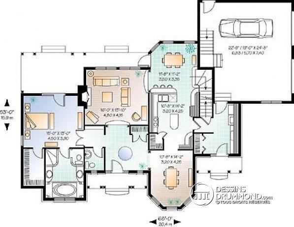 17 best images about mes mod les de plans de maison et. Black Bedroom Furniture Sets. Home Design Ideas